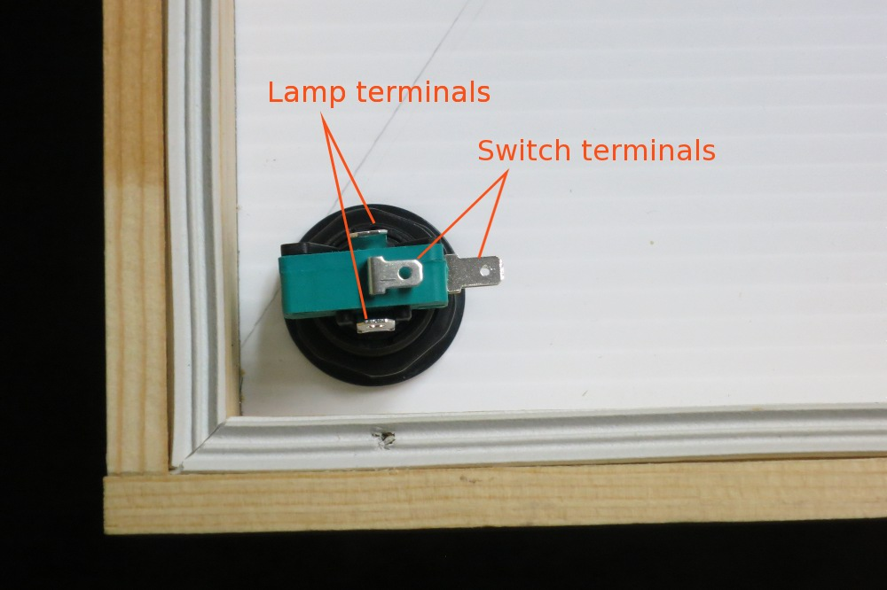 There are two sets of terminals