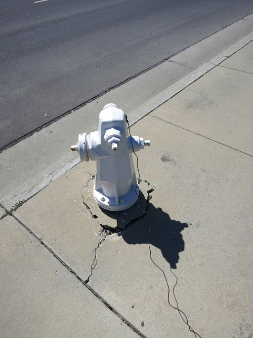 Fire plug, Lafayette Street near Oracle campus