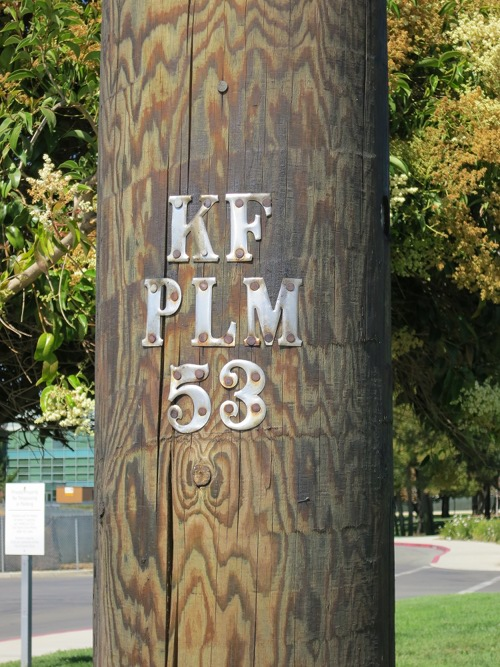 Power pole KF PLM 53, old school but new construction ca. 2009