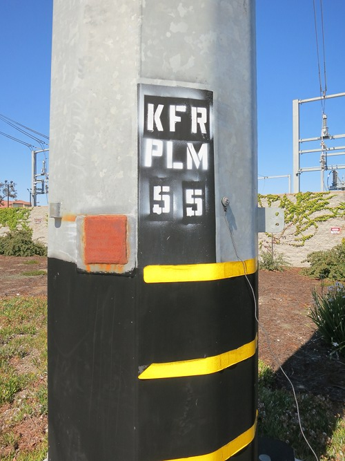 Power pylon KFR PLM 55, just south of PLM NAJ 1