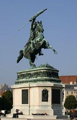 Bronze statue of Archduke Carlos of Austria