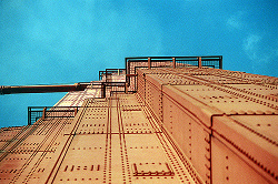 Art Brut. The south tower tempts us with visions of vibrating catwalks