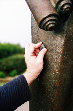 Placing the Schertler mic on Joseph's hollow form