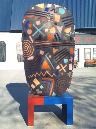 One of Jun Kaneko's 'Dango' sculptures