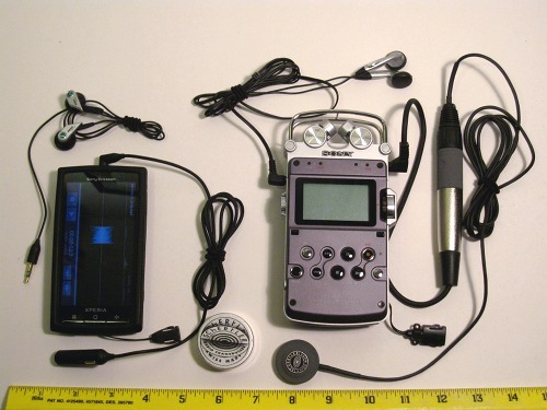 Xperia X10 (left) with Sony PCM-D50 (right)