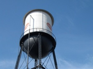 Water tower by former Del Monte Plant 3