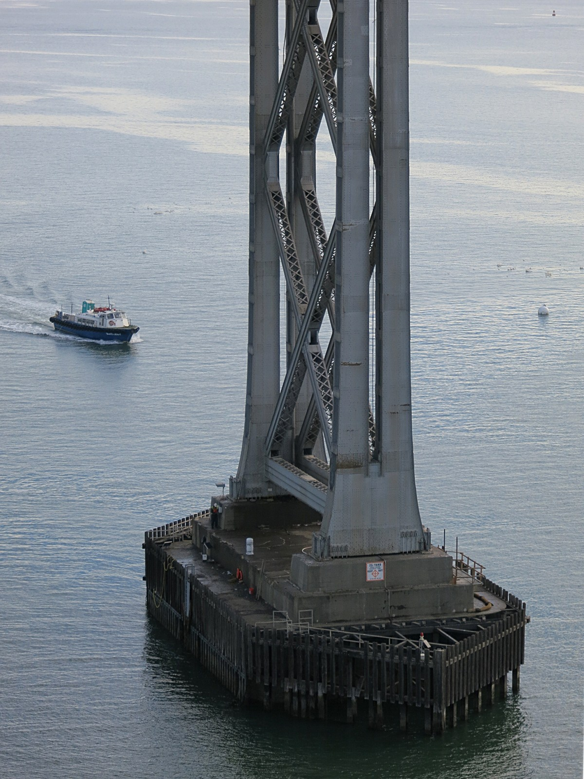 Bay Bridge Assay 1: pier and pylon on the old eastern span.