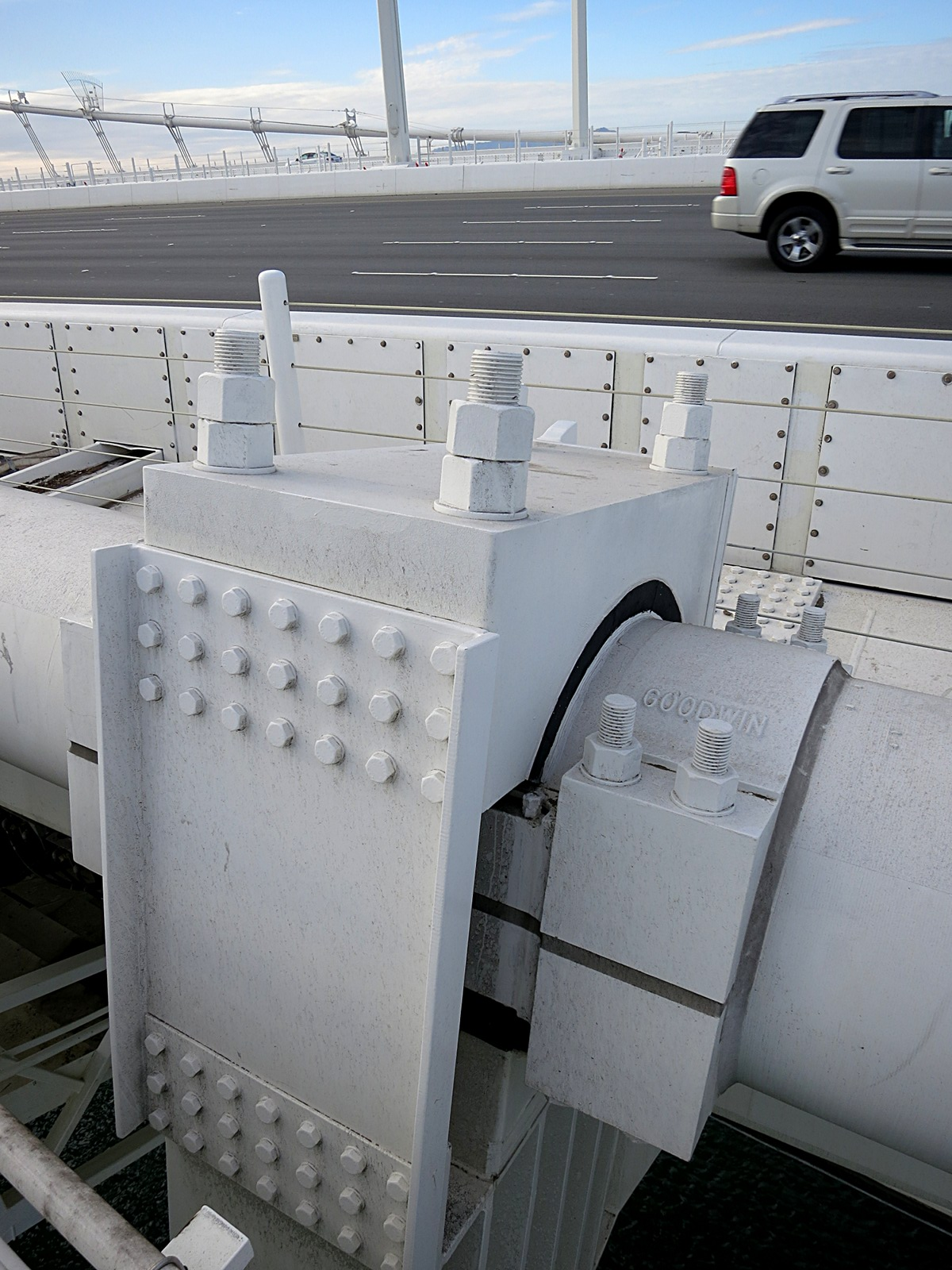 Bay Bridge Assay 1: roadway suspension on the new eastern span.