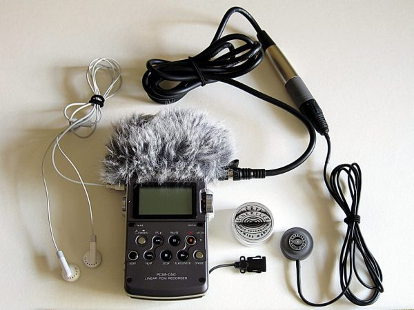 Sony PCM-D50 with Schertler DYN-E-SET mic